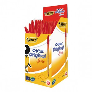 Stylos bille BIC pointe fine CORPS ORANGE ROUGE Stylos bille