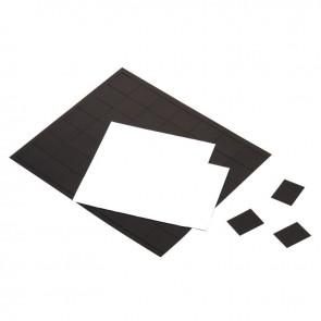 Pochette de 4 plaques de 42 aimants adhésifs 25x20mm