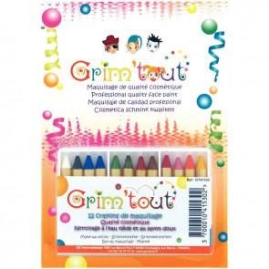 Boîte de 12 crayons de maquillage