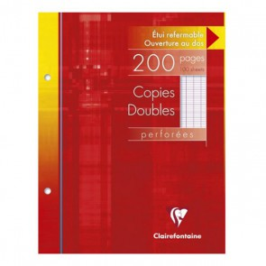 100 Copies doubles petit format 17x22, perforées 2 trous 70g