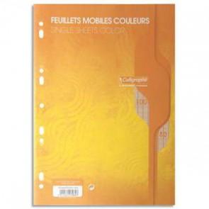 Copies de couleur JAUNE en A4 perforées 100 pages grands carrea