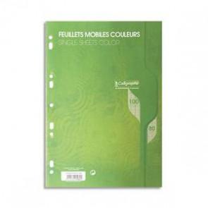 Copies de couleur VERTE en A4 perforées 100 pages grands car