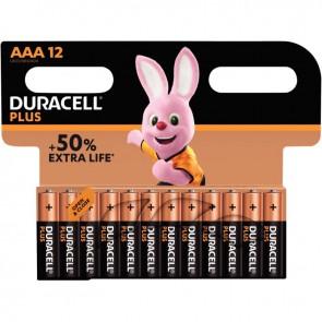 Blister de 12 Piles 1.5V PLUS à la marque Duracell LR03