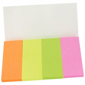 Étui de 4 distributeurs de 40 marque-pages en papier couleurs assorties