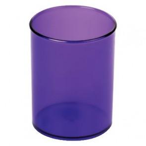 Pot à crayons rond D7cm Lilas transparent