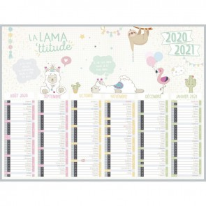 Calendrier semestriel 6 mois sur chaque face 32 x 42 cm