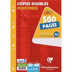 Étui de 500 pages ou 125 copies doubles format A4 séyès 90g