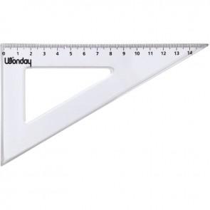 Équerre plastique graduée, 60° 16 cm