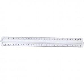 règle 30 cm, riple décimètre en plastique cristal