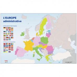 Carte d'Europe administrative Dimensions : 1,20x0,80 mètre Avec 5 gros œillets en métal