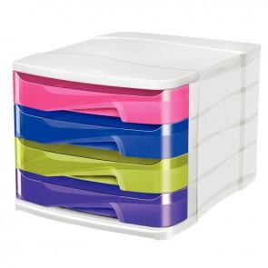 Module 4 tiroirs happy multicolore
