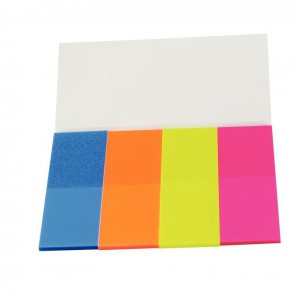 Étui de 4 distributeurs de 40 marque-pages film transparent couleurs assorties