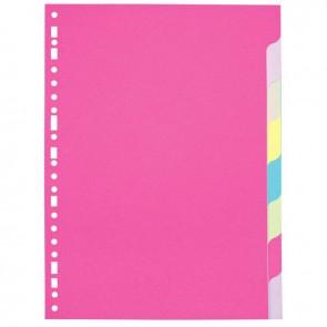 Jeu de 8 intercalaires à touches neutres A4 (21 x 29,7 cm) en carte forte dossier 170 g couleurs assorties