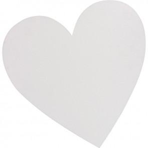 Carton entoilé forme coeur