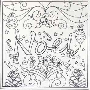 Carton entoilé pré dessiné Noël