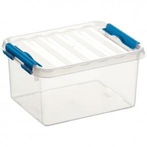 Boîte de rangement avec couvercle QLINE 2L 20x15x10,4