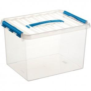 Boîte de rangement avec couvercle QLINE 22L 40x30x26