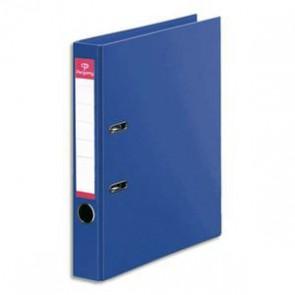Classeur dos de 5  en polypropylène intérieur/extérieur  A4. Coloris bleu foncé