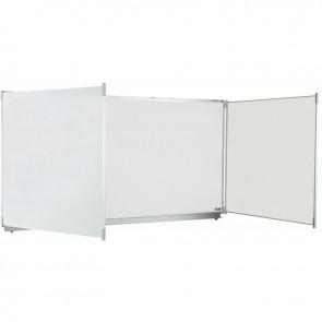 Tableau triptyque blanc émaillé 120x400 + auget