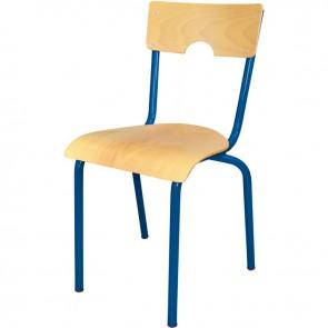Chaise 4 pieds métal empilable T5 bleu