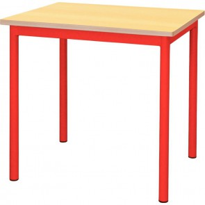 Table maternelle 60x50cm T3 rouge