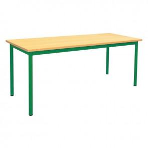 Table maternelle 160x80cm T1 vert