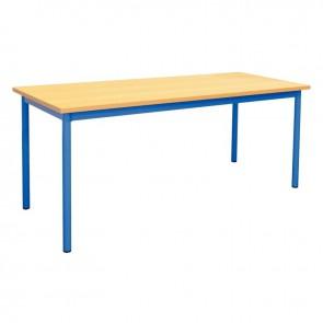 Table maternelle 160x80cm T1 bleu