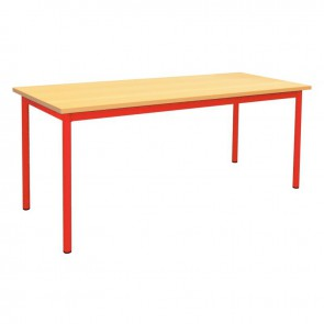 Table maternelle 160x80cm T2 rouge