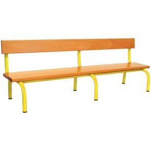 Banc avec dossier L160cm T2 jaune