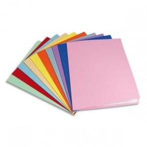 Paquet de 25 chemises carte recyclée 180 grammes coloris assortis 5ET