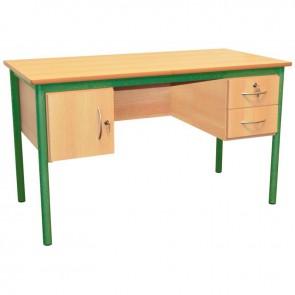 Bureau du professeur 130x65cm vert