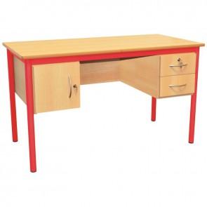 Bureau du professeur 130x65cm rouge