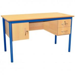 Bureau du professeur 130x65cm bleu