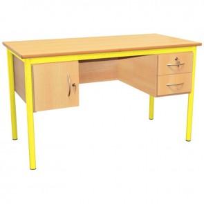 Bureau du professeur 130x65cm jaune