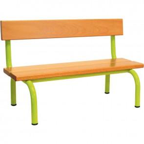 Banc pour écoles avec dossier L.120 cm T 3 vert granny