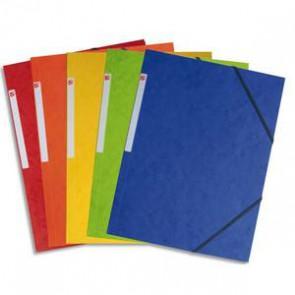 Chemise simple à élastique en carte lustrée 5/10eme 390g. Assortis standard. Dimensions 24x32cm