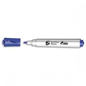 Marqueur 1er prix effaçable à sec corps plastique pointe ogive bleu
