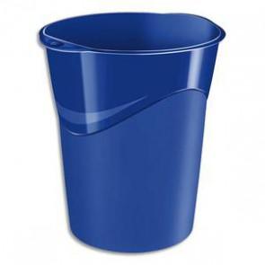 Corbeille à papier bleue