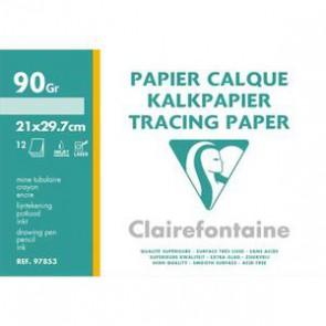 Pochette de papier calque 90gr 12 feuilles A4