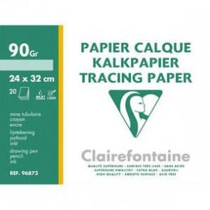 Pochette de papier calque 90gr 20 feuilles 24X32cm
