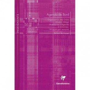 Agenda de bord  21x29,7cm 144 page. Couverture rigide CLAIREFONTAINE 9059C