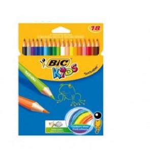 18 crayons de couleur Tropicolor  Réf. bic 8675663