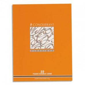 Cahier 1er prix apprentissage de l'écriture  17x22 cm en 32 pages SECAIL 2,5 mm CONQUERANT 90g. carte vernie