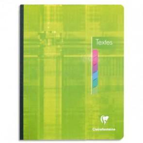Cahier de texte spiralé 144 pages Seyès 17x22. Couverture carte  Code Produit 119220 qualité CLAIREFONTAINE
