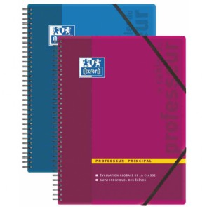 Cahier du PROFESSEUR PRINCIPAL Oxford 24x31 couverture PP en 156 pages REF. OXFORD 100104313