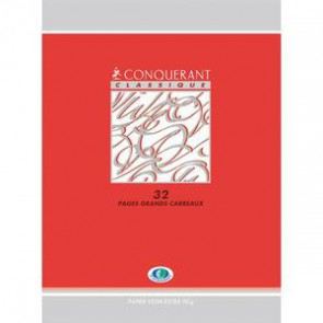 Cahiers CONQUERANT maternelle 17x22 cm 32 pages SEYES 4 mm