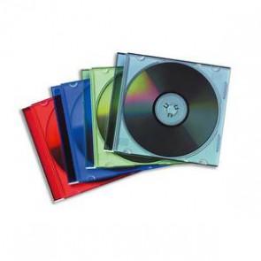 Lot de 25 Boîtiers CD slim coloris assortis