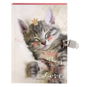 "Carnet secret fermeture cadenas 12x17cm My Little Princess décor "" Chat"" (Default)"