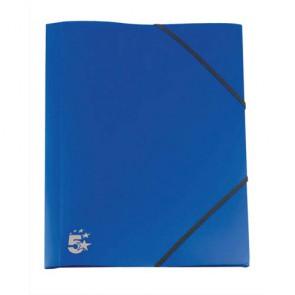 Chemise 3 rabats élastique bleue en plastique