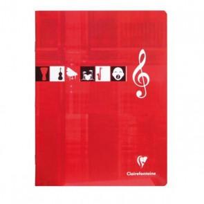 Fournitures scolaires : cahier musique et chant 17x22 cm en 48 pages 90 g. : 1 page lignée + 1 page de portées